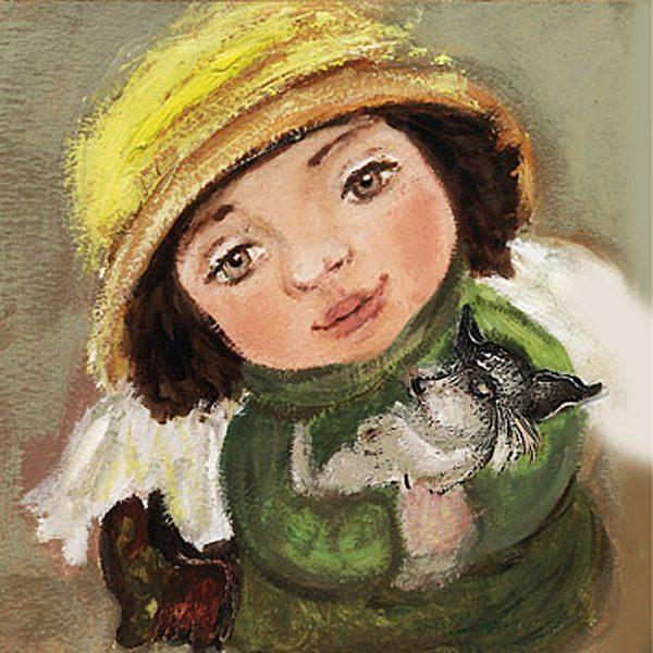 Картина Ангел с собачкой