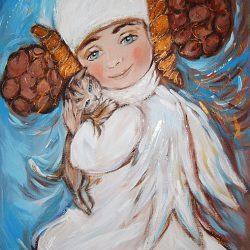 Картина Ангел с котенком
