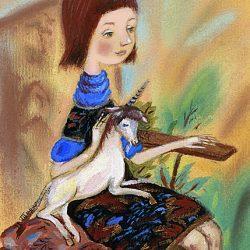 Картина Девочка с единорогом