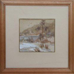 Картина «Зимнее озеро.»