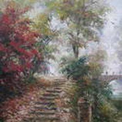 """Картина """"Осень в старом парке"""""""