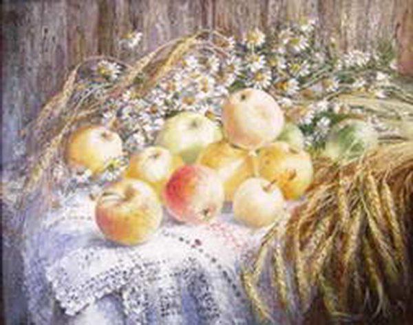 """Картина """"Яблочный спас"""""""