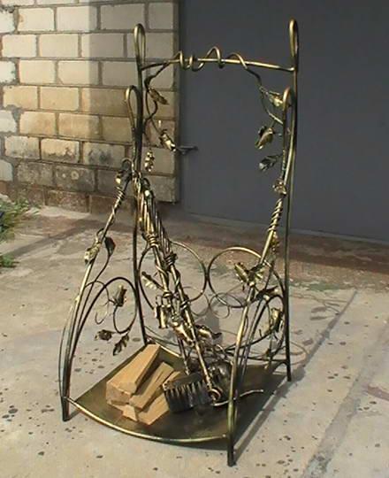 Каминный набор с дровницей