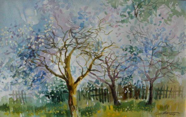 """Картина """"Яблони в цвету"""""""