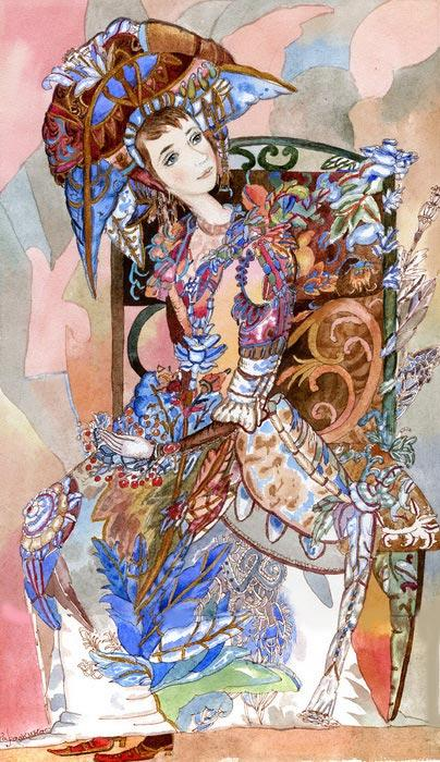 Картина Цветущее платье