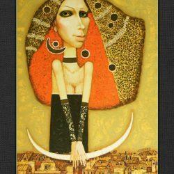 """Картина """"Дама в Старом Городе"""", 2008 г."""
