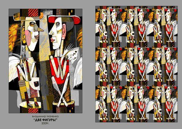 "Картина ""Две фигуры"", 2009 г."