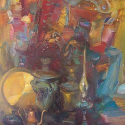 Картина «Натюрморт с самоварами»