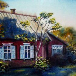 """Картина """"Дом у дороги"""""""
