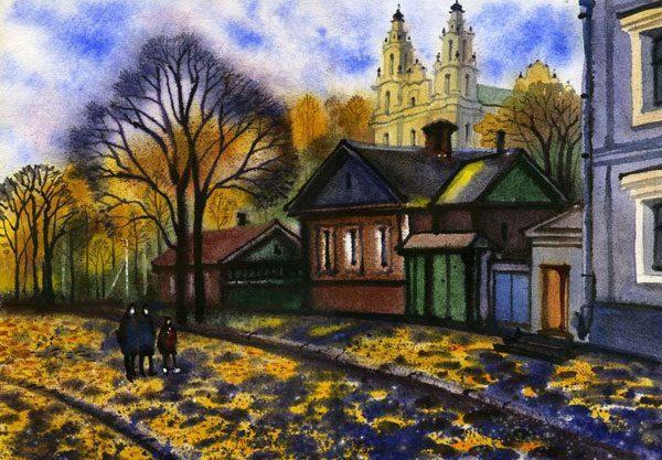 """Картина """"Осень в Полоцке"""""""