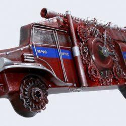 Настенные часы Пожарная машина