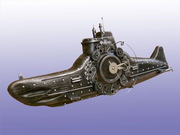 Настенные часы Подводная лодка