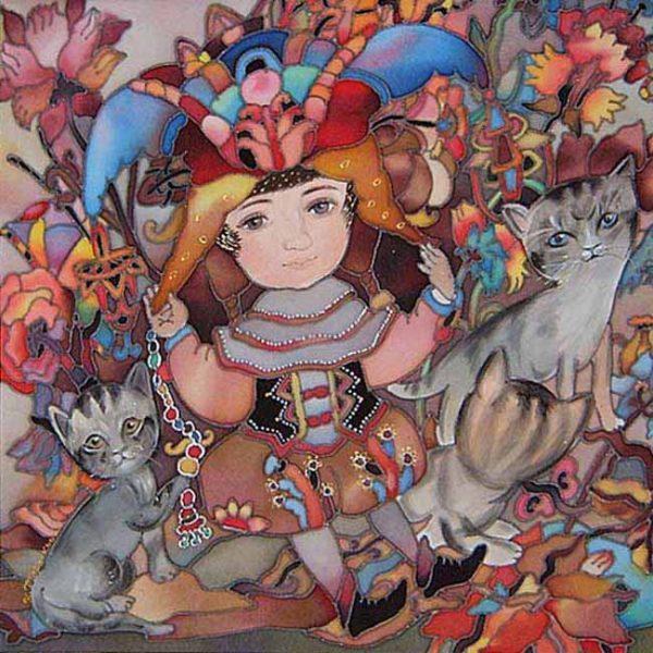 Картина Принц с котятами