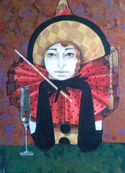 Картина Коломбина с мундштуком