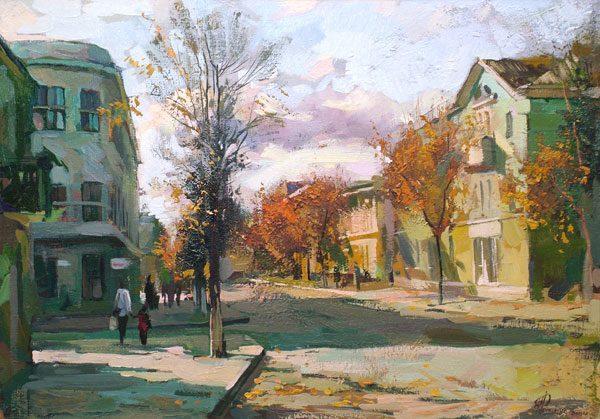 Картина «Осень на ул. Пушкина»