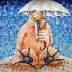 Картина Грач на пляже