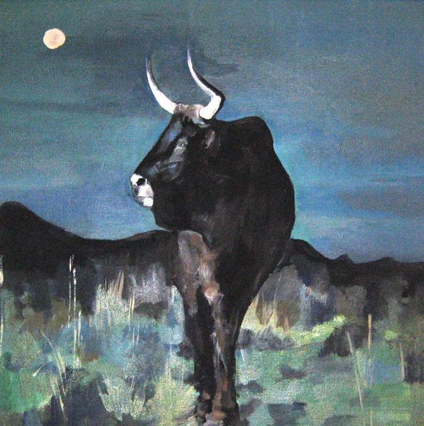 Картина Черный бык