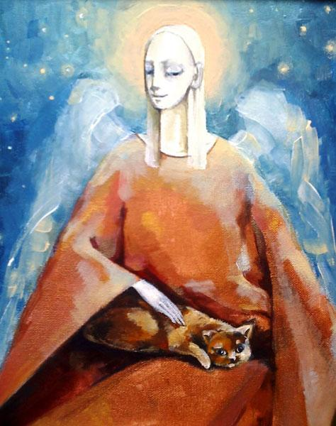 Картина Ангел с котом