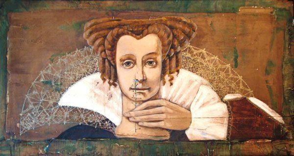 Картина Дама с цветком