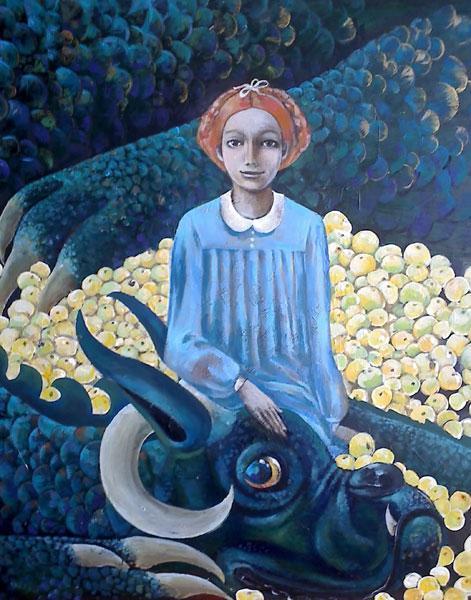 Картина Девочка с драконом