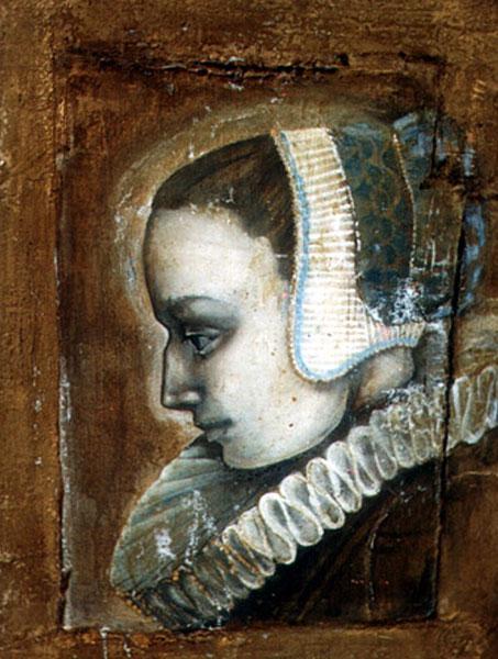 """Картина """"Голубой портрет"""""""