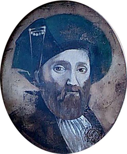 Картина Мужчина в зеленом берете