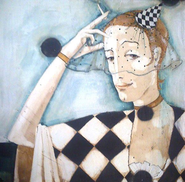 Картина Коломбина с вуалью