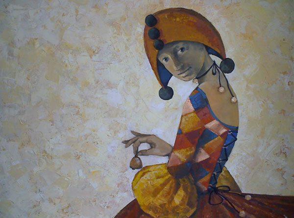 Картина Коломбина с колокольчиком