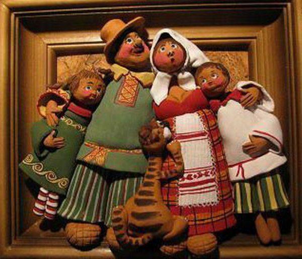 Панно «Весёлая семейка»