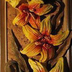 Панно «Жёлтые орхидеи»