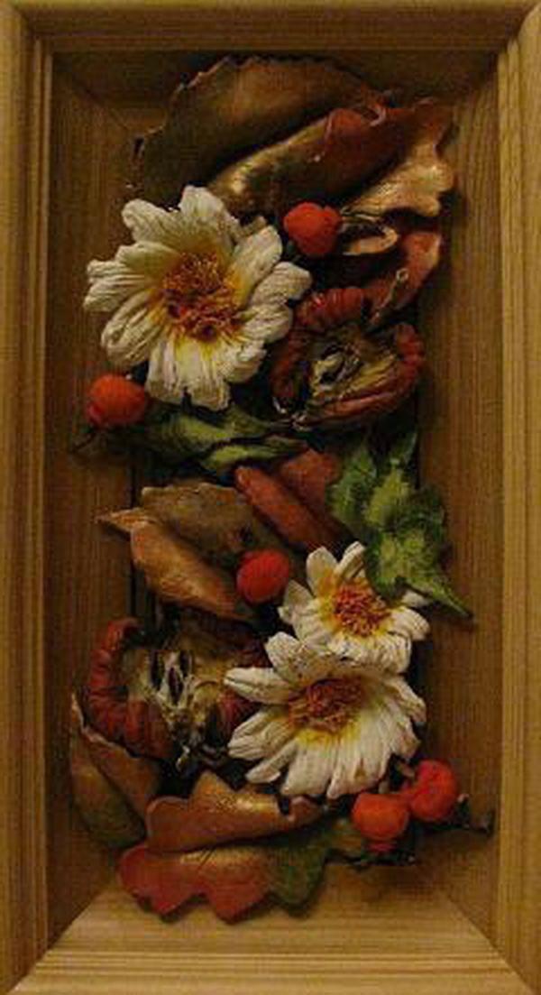Панно Осенняя композиция с яблочками