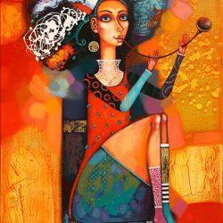 """Картина """"Девушка с дудкой"""", 2010 г."""