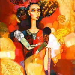 """Картина """"Девушка с цветком"""", 2010 г."""