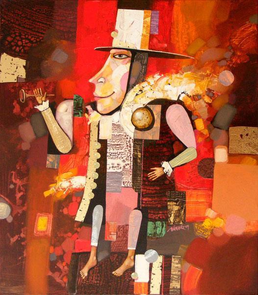 """Картина """"Скоморох"""", 2009 г."""