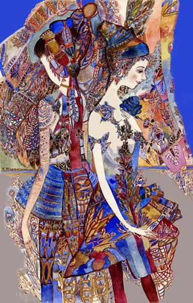 Картина «Голубые розы» 2010г