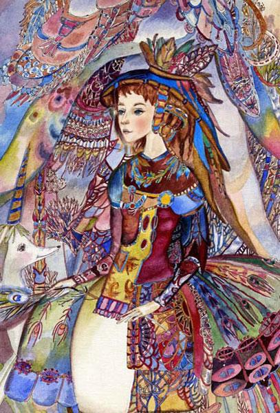 Картина «Перо павлина» 2010г
