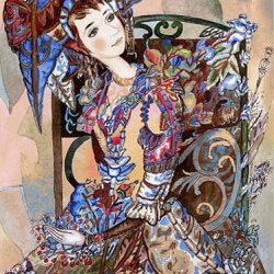 Картина «Цветущее платье» 2009г
