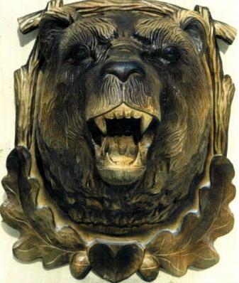 Панно Голова медведя