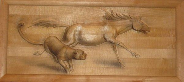 Панно Лошадь и пума