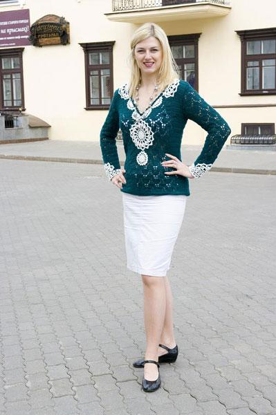 Пуловер Полосатый блеск