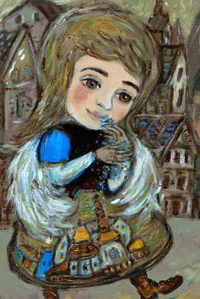 Картина Ангел в городе