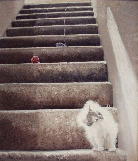 Картина Игры котенка