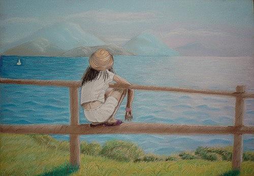 Картина Девочка и море