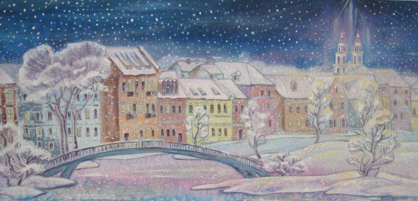 Картина Пейзаж «Зима в Троицком»