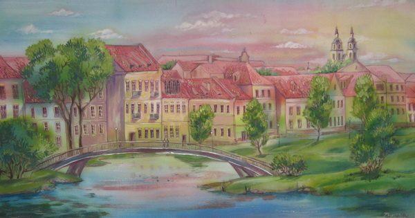 Картина Пейзаж «Весна в Троицком»