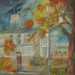 Картина Пейзаж «Осень. Ратуша»