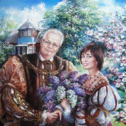 Картина Портрет семьи в костюме 16век