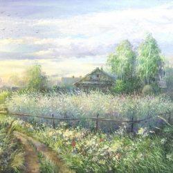 Картина В деревне