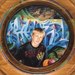 Картина Портрет на  фоне граффити