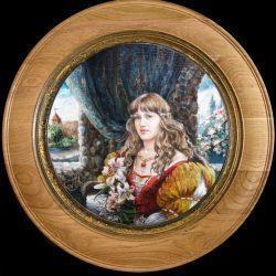 Картина Портрет девушки в историческом костюме